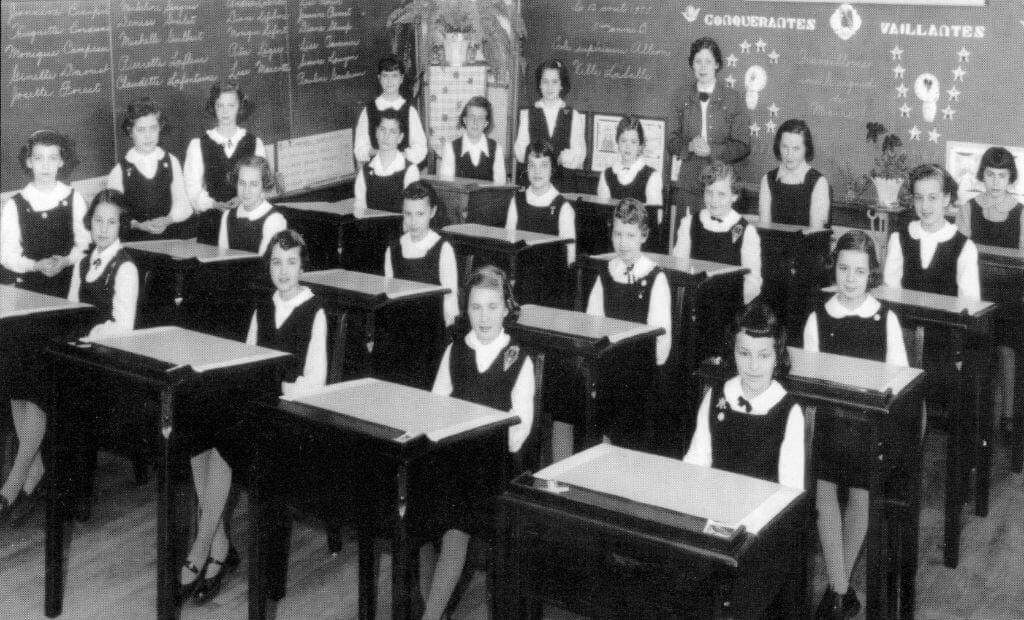 La classe de 4e et 5e années de Mme Gertrude