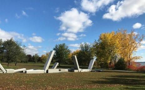 Sculpture paysage par Jacques Bilodeau et Claude Cormier + Associés Inc. - Crédit photo : Karine Joly