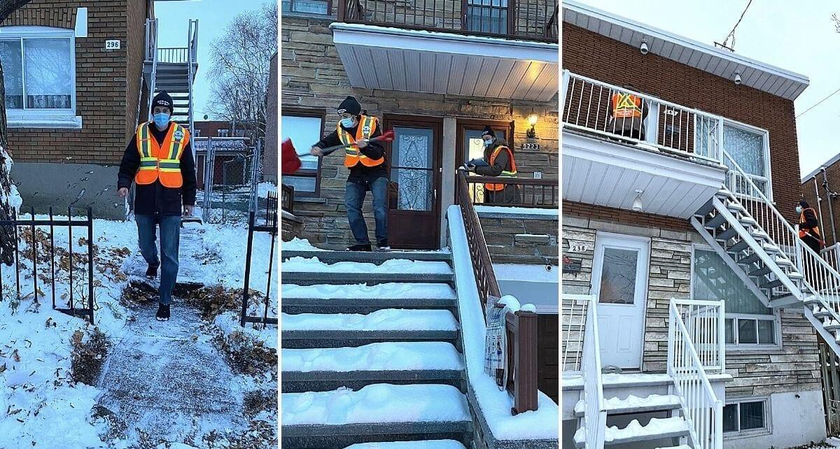 La Brigade neige de LaSalle en action