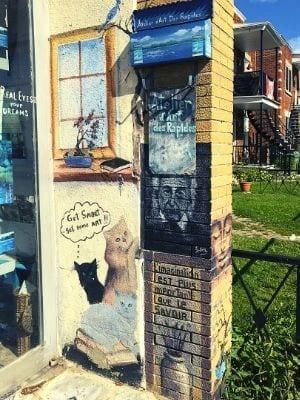 La murale de l'Atelier d'art des Rapides par Susan Nimbey