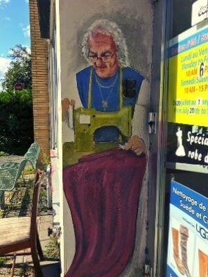 La murale du nettoyeur du Centrale par Susan Nimbey