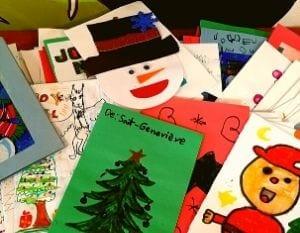 Des cartes de Noël de Sainte-Geneviève