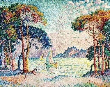 Paul Signac (1863-1935), Juan-les-Pins. Soir (première version), 1914, huile sur toile. Collection particulière. Photo Maurice Aeschimann, Genève