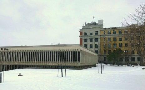 La mairie d'arrondissement de LaSalle en hiver
