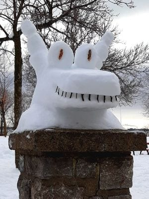 Animal de neige à Verdun