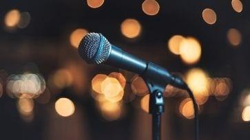 microphone en concert