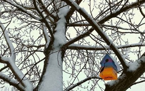 Maison à oiseaux par les Artistes Anonymes du Bronx - coucher de soleil
