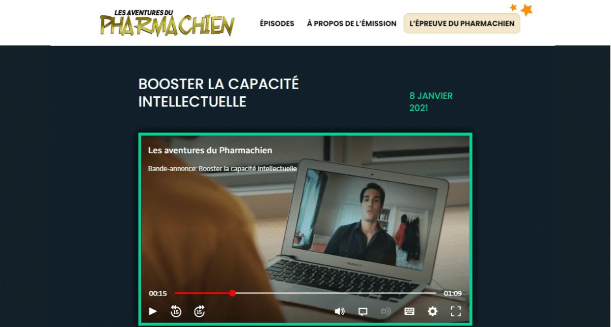 Dr. Sébastien Tremblay à l'émission Les Aventures du Pharmachien du 8 janvier 2021 avec Olivier Bernard