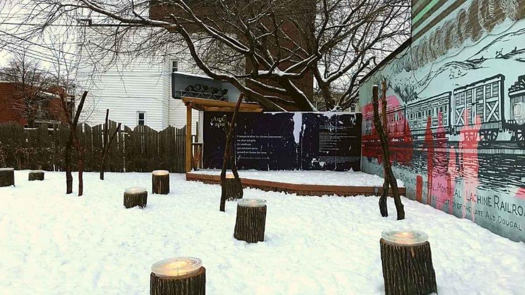 Station hivernale de Lachine Aux souches en journée