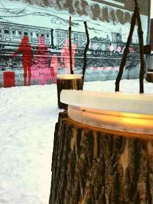 Station hivernale de Lachine Aux souches lumineuses !