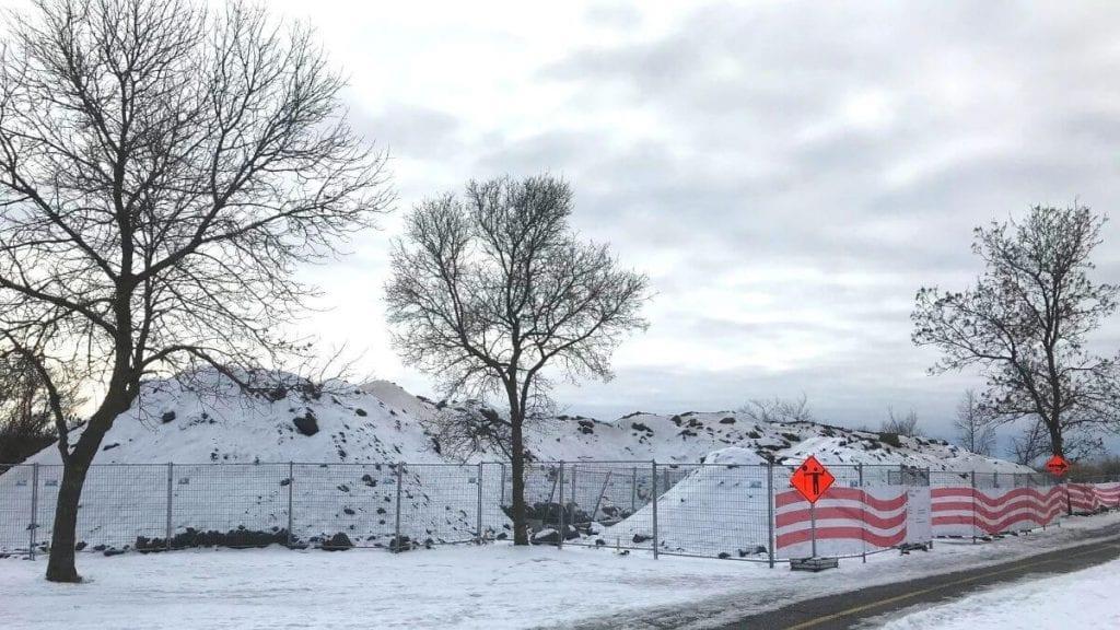 Travaux sur la structure de dérivation et de déversement Alepin à LaSalle - Crédit photo : Karine Joly