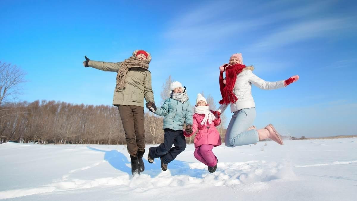 En hiver et en famille