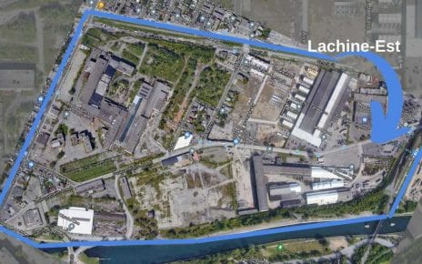 Carte de la zone du futur écoquartier de Lachine-Est