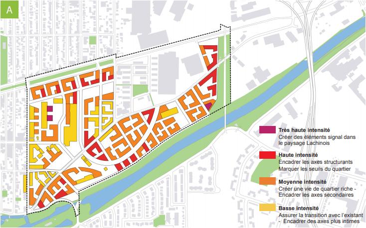 Plan des densités pour Lachine-Est
