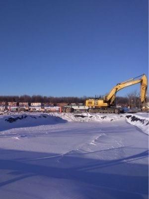 Travaux d'excavation pour la nouvelle école secondaire de LaSalle