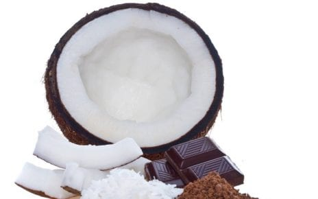 Noix de coco et chocolat
