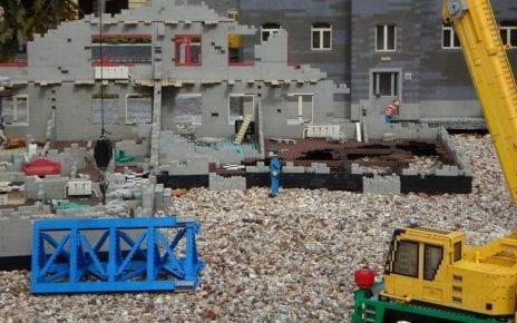 Chantier de construction en légo