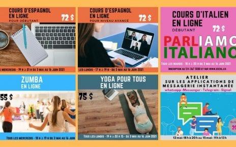 Centre Henri Lemieux programmation printemps 2021