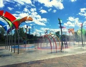 Les jeux d'eau du parc l'Aquaciel