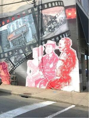 Murale de la rue Notre Dame à Lachine : Cinéma