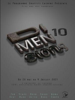 L'affiche de l'expo Dimensions 10 - Crédit photo : arrondissement de Lachine