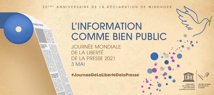Journée mondiale de la liberté de la presse sur le thème de l'information comme bien public