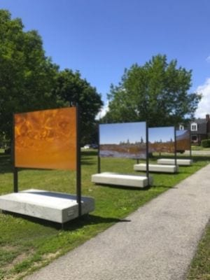 Exposition d'art autochtone « Un fleuve coupe la roche » Maison Nivard-de-Saint-Dizier à Verdun
