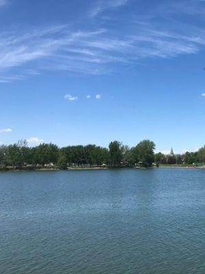 Le bassin du parc des Rapides