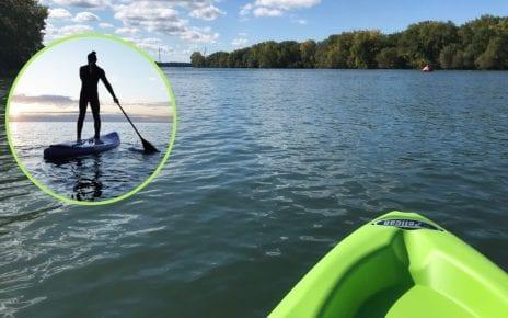 Sur un kayak ou une planche à pagaie, une merveilleuse façon de relaxer