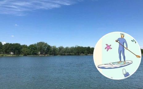 Le bassin du parc des Rapides à LaSalle