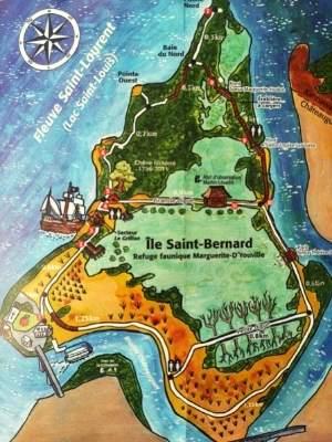 Carte de l'ïle Saint-Bernard
