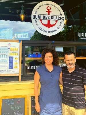 Mario Gauthier et Sophie Lepage du Quai des Glaces à Lachine