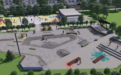 Vue d'ensemble préliminaire de l'aménagement du parc Raymond Source : Arrondissement LaSalle, Montréal - 12 juillet 2021