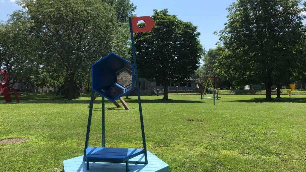 Expo Souvenirs d'été dans le parc du musée de Lachine