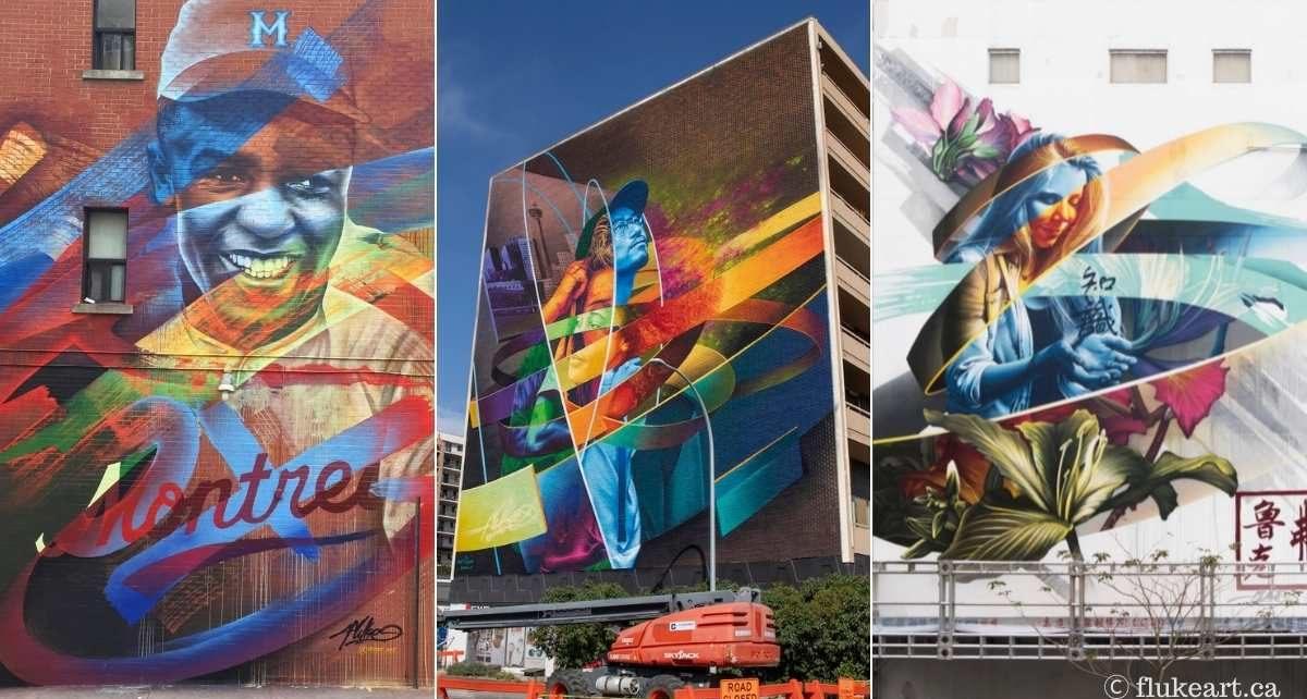 3 murales réalisées par Fluke (flukeart.ca)