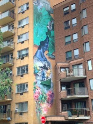 Les rapides de Lachine (2019, Ankh One & Dodo_Ose) - Murale au 4560 boulevard LaSalle à Verdun