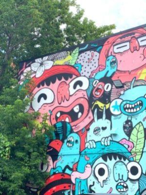 Tropical (2018, Astro) - Murale au parc Duquette (Hickson) à Verdun