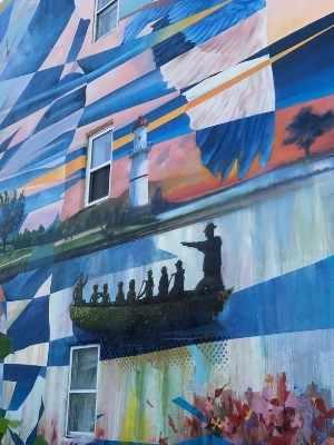 Murale La Gare du Canal de Dodo_Ose à Lachine -