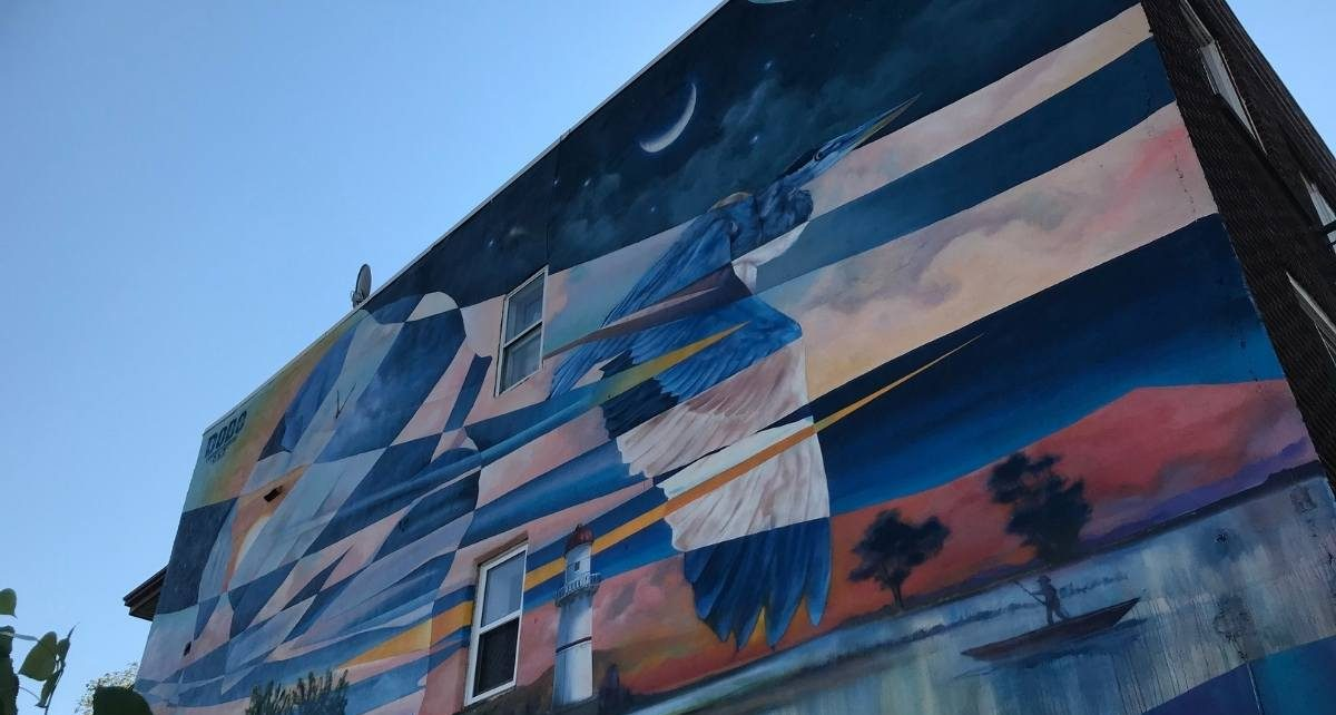 Murale La Gare du Canal de Dodo_Ose à Lachine - crédit photo : Karine Joly