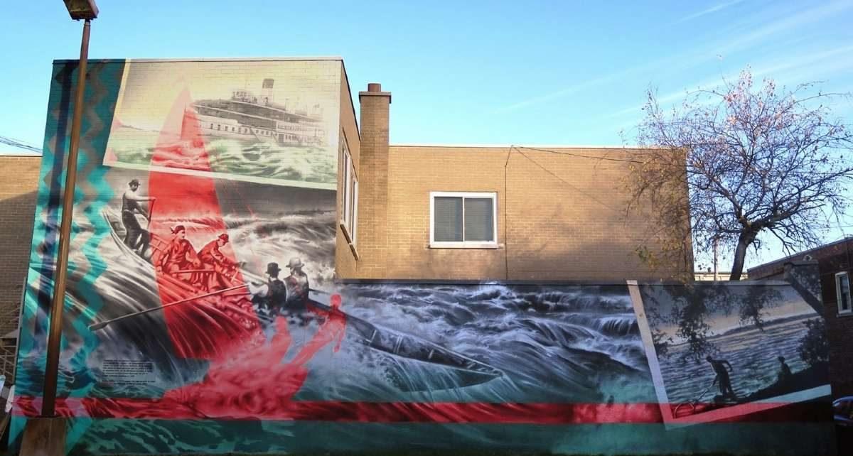 Murale les Rapides de Lachine - Notre Dame à Lachine